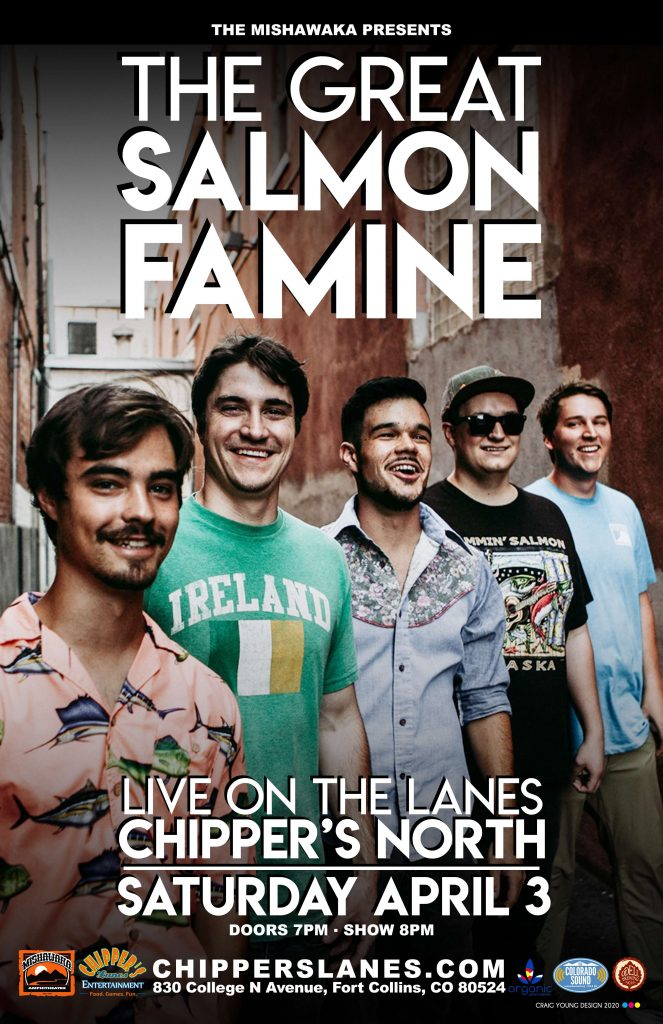 Great Salmon Famine at Chipper's Lanes - Live music